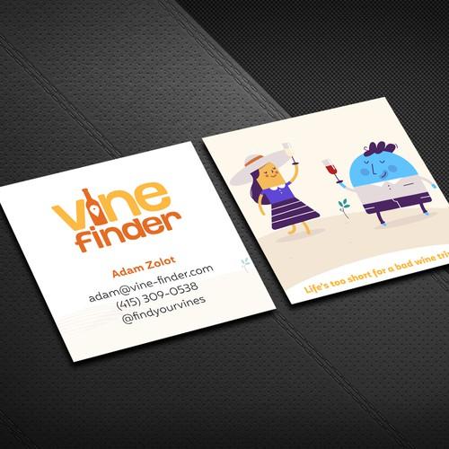 Vine vinder business card