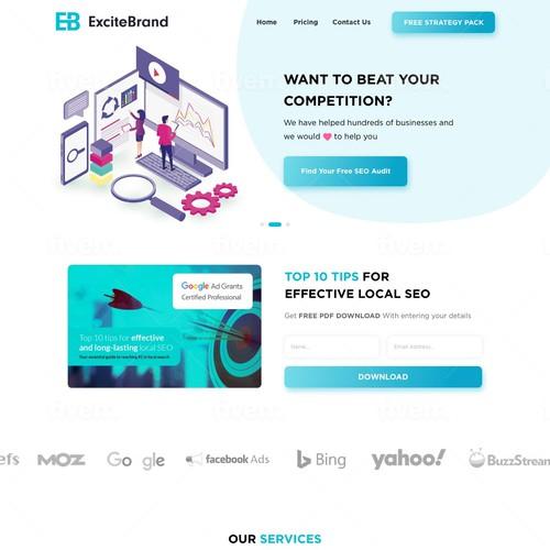 Excitebrand Landing Page Design