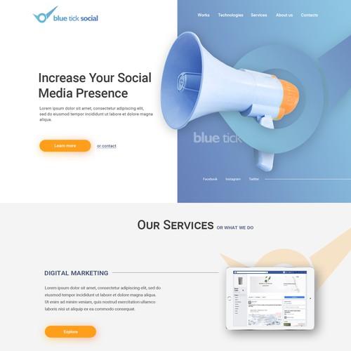 Portfolio Style Website Design for a Social Media Marketing Consulting Company