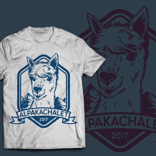 Alpakachalet t-shirt design