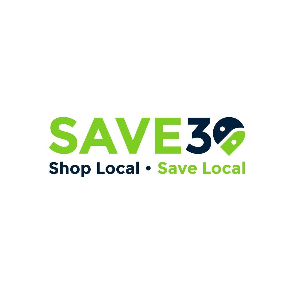 Save30 needs a modern, clean, 'local' logo