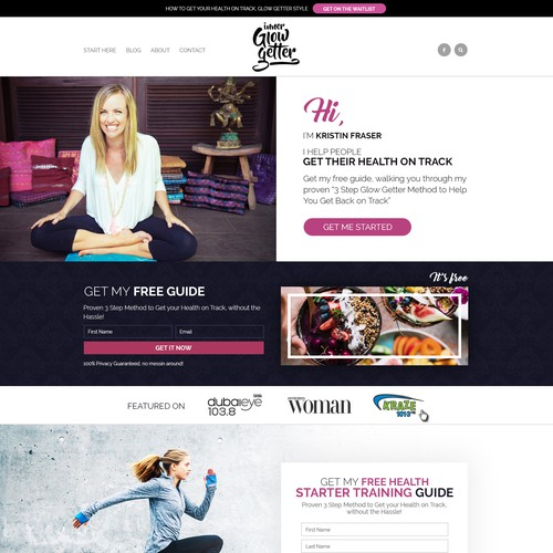 Best Ever LEADPAGE For Glow Getter Healthy Kickstart Free Training Optin