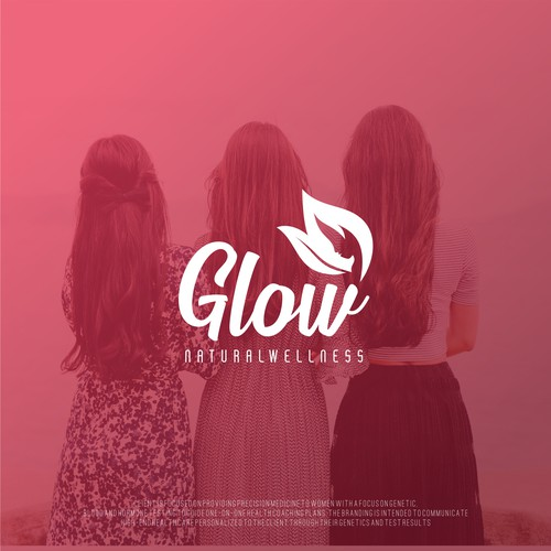 logo for glow natural wellness