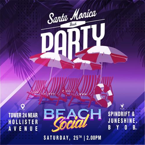 Santa Monica Beach Party by Beach Social