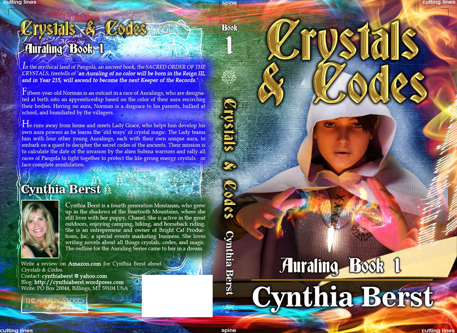 Crystals & Codes - Fantasy Book Cover Design for children ages: 8 to 12 years old.