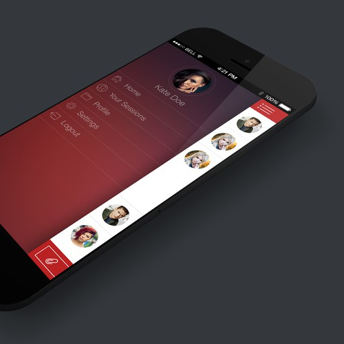Great design for a timeline like messenger app needed :)