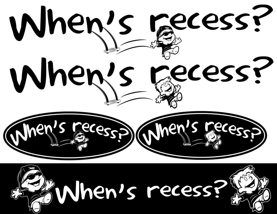 "New logo wanted for ""When's recess?"""