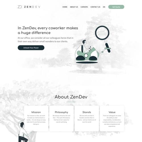 Software development firm website design