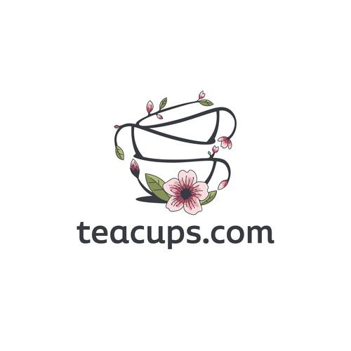 Logo for an e-commerce tea store