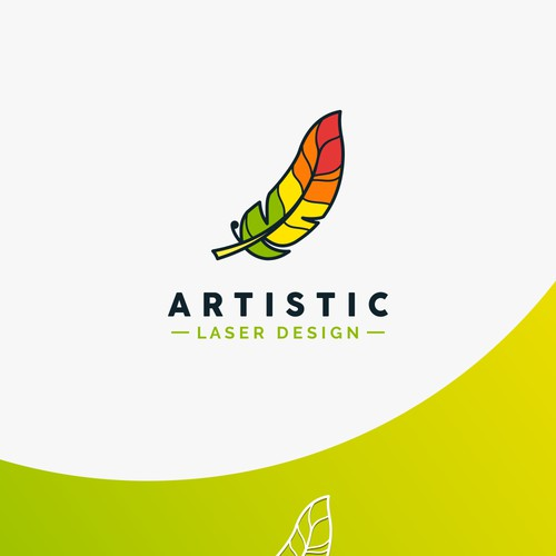colorful feather logo