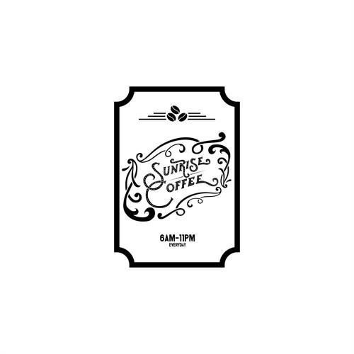 Logo Concept For Sunrise Coffee