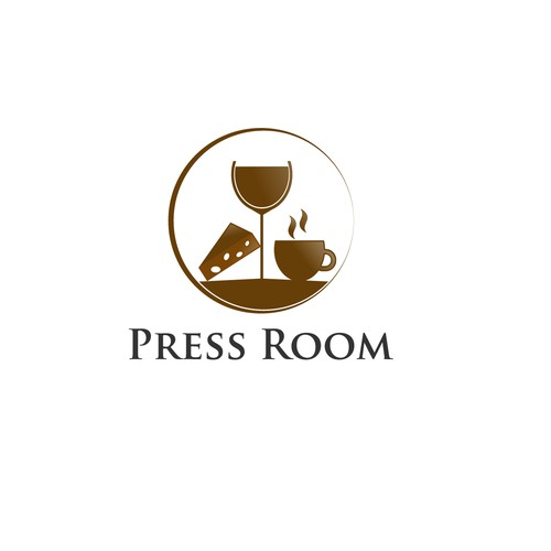 Logo for wine and cheese bar