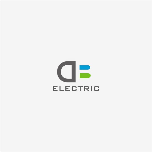 simple clean logo for electric company
