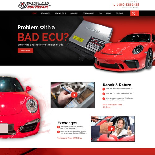 Home Page Design Car Site