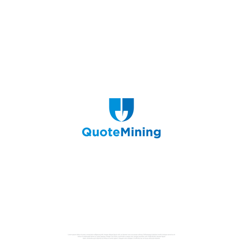 Minimalist design for QuoteMining Logo