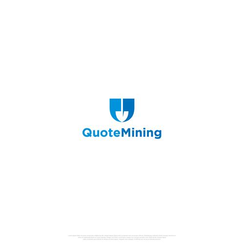 Minimalist design for QuoteMining Logo
