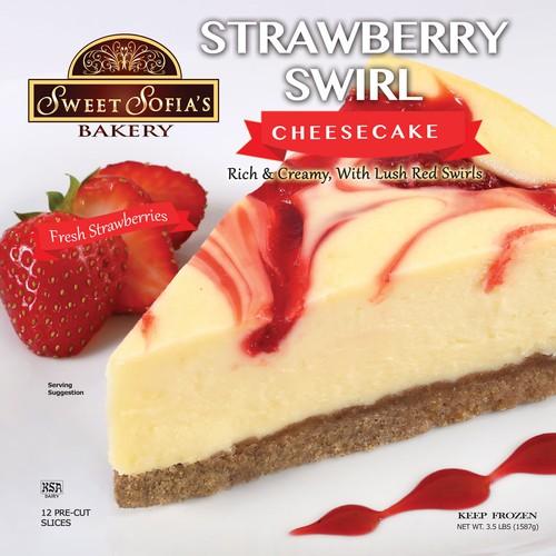 Strawberry Swirl Cheesecake Package Design
