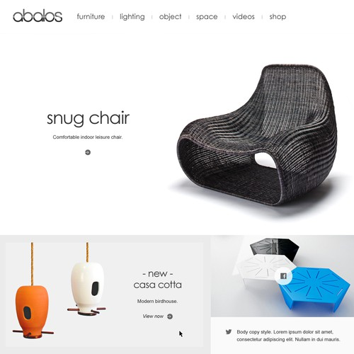 Furniture Company Homepage Concept