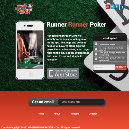 Landing page needed for Runner Runner Poker !!!
