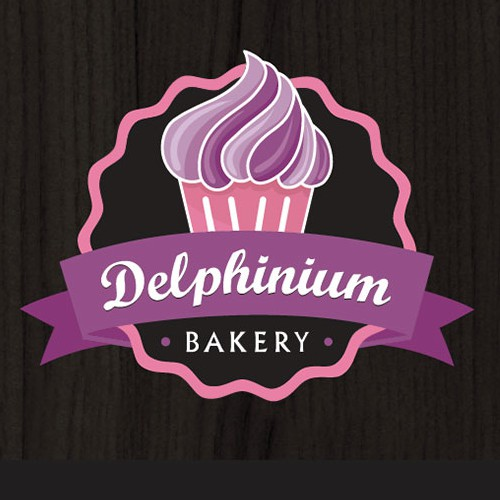 Create a new logo for gourmet bakery, Delphinium Bakery