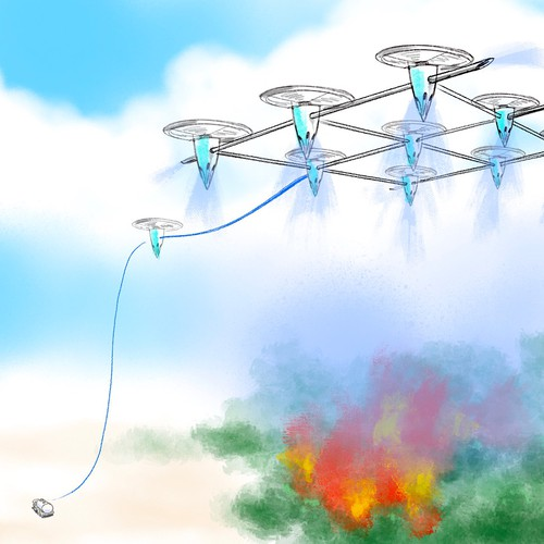 Fire fighting drones sketch