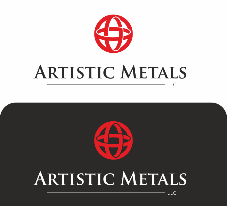 Create a bold design logo for our metal design business, Artistic Metals LLC.