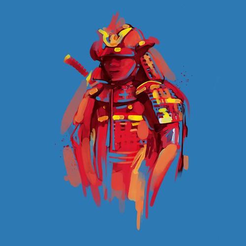 Samurai Warrior - watercolour