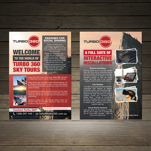 360 Sky Tour Imagery A4 Flyer