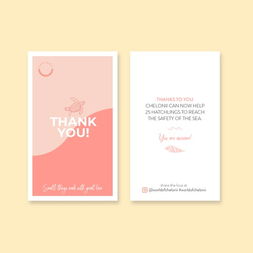 Chelonii thank you card