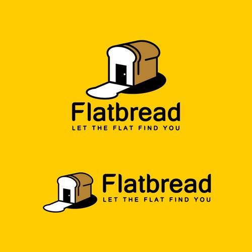 modern logo concept for Flatbread