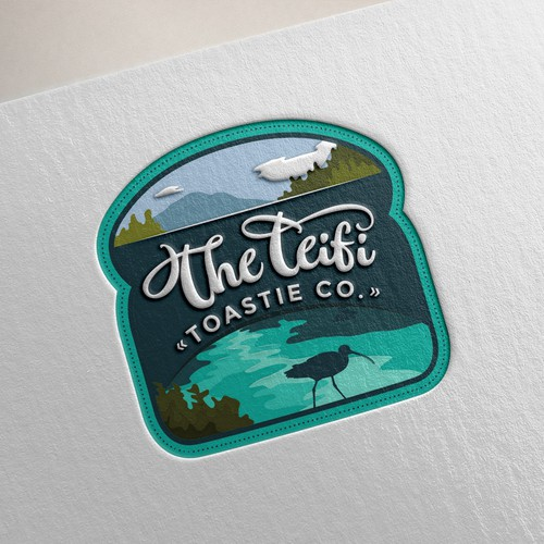 Logo for toasted/grilled cheese sandwiches Foodtruck