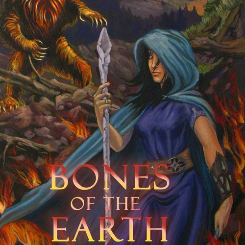 Design for a debut YA epic fantasy novel cover!