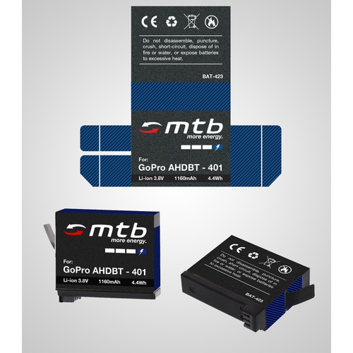 Product label for rechargable battery