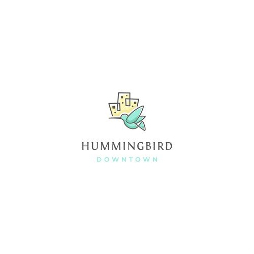 Logo concept for hummingbird downtown