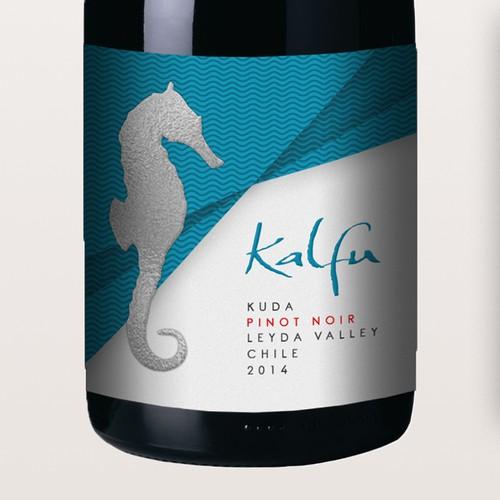 Seahorse Wine Label