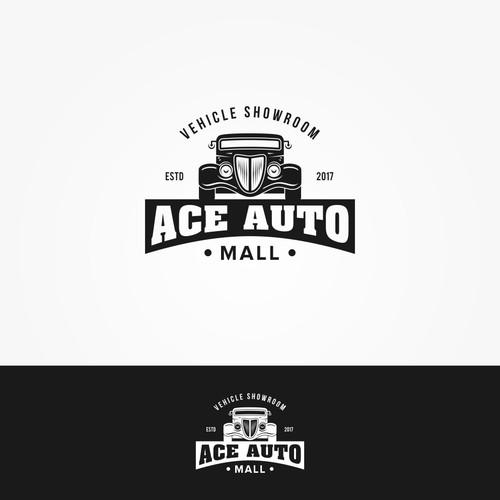 Design a 50's logo for Ace Auto Mall