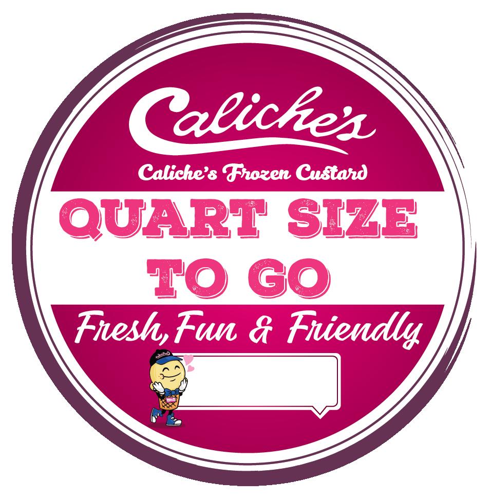 Design a new Quart label for Caliche's frozen custard.