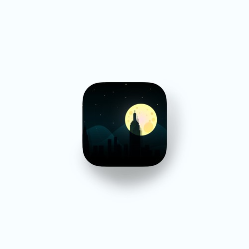 Minimal illustrated app icon
