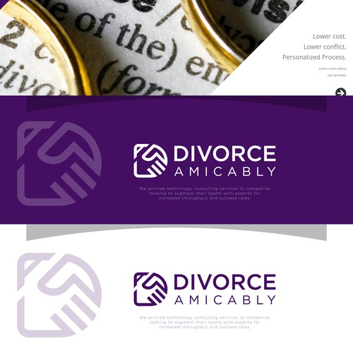 Divorce Amicably logo concept 2