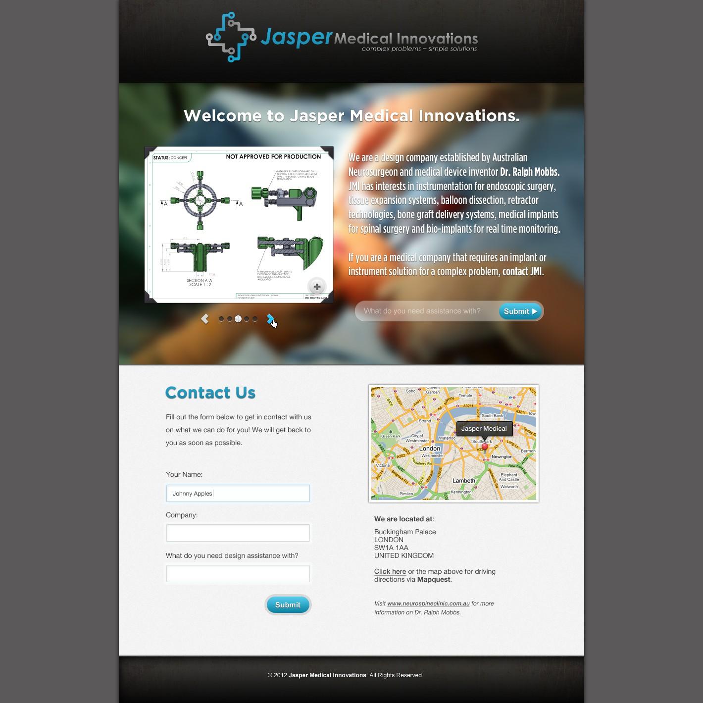 Create the next website design for Jasper Medical Innovations