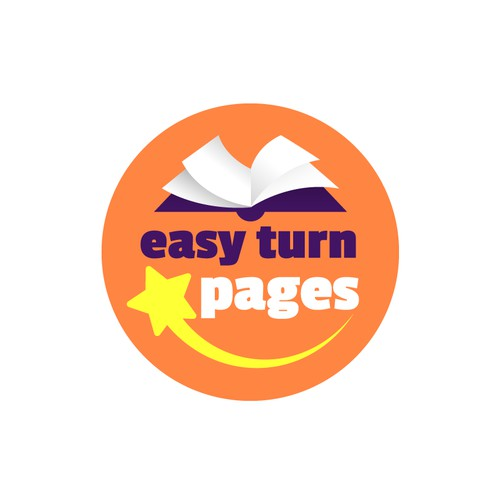 Sticker design for a book