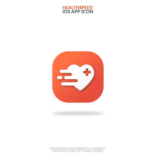 An App icon Designed For HealthSpeed App