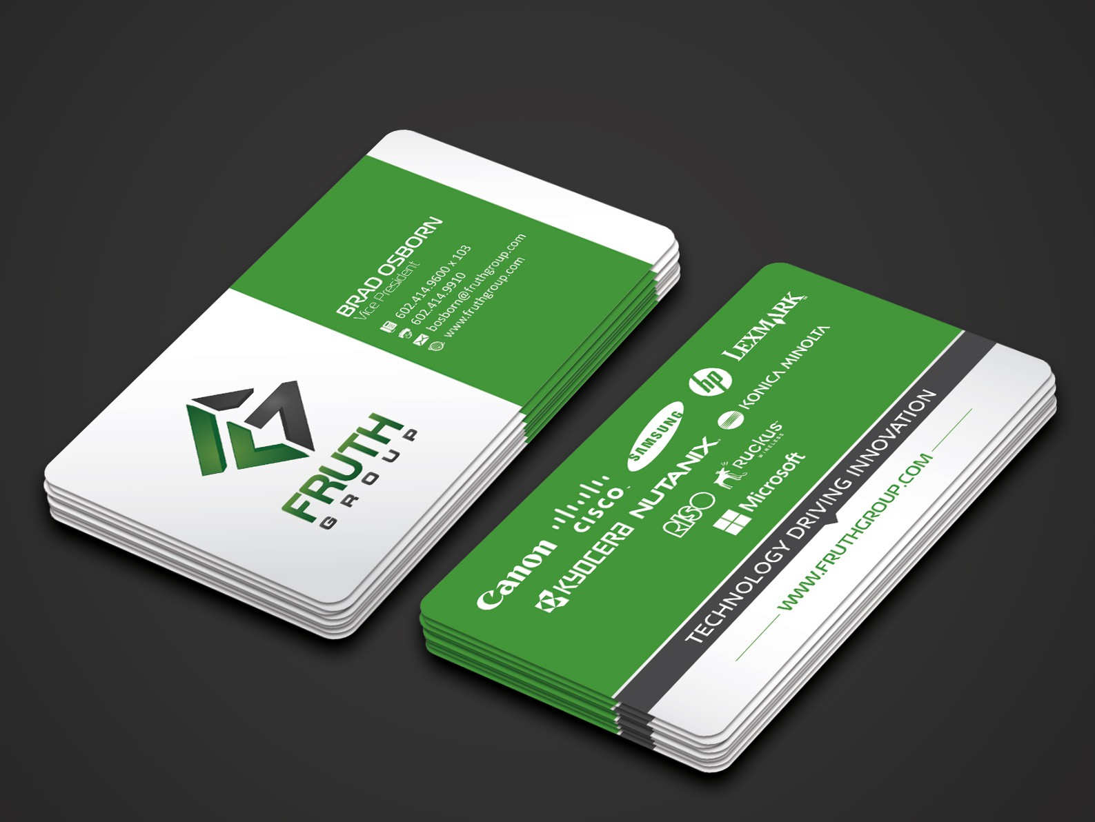 New High Tech Business Cards for High Tech Company