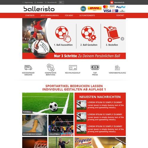 Balleristo Sports equipment website