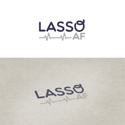 Create a simple yet modern logo for representing LASSO-AF clinical trial