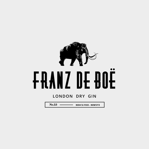 bold and masculine logo for gin company