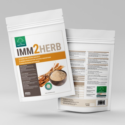 Label for our natural product for strong immune system