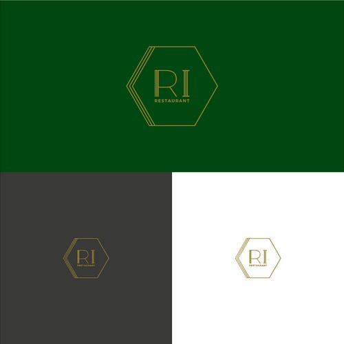 Geometric logo for RI Restaurant