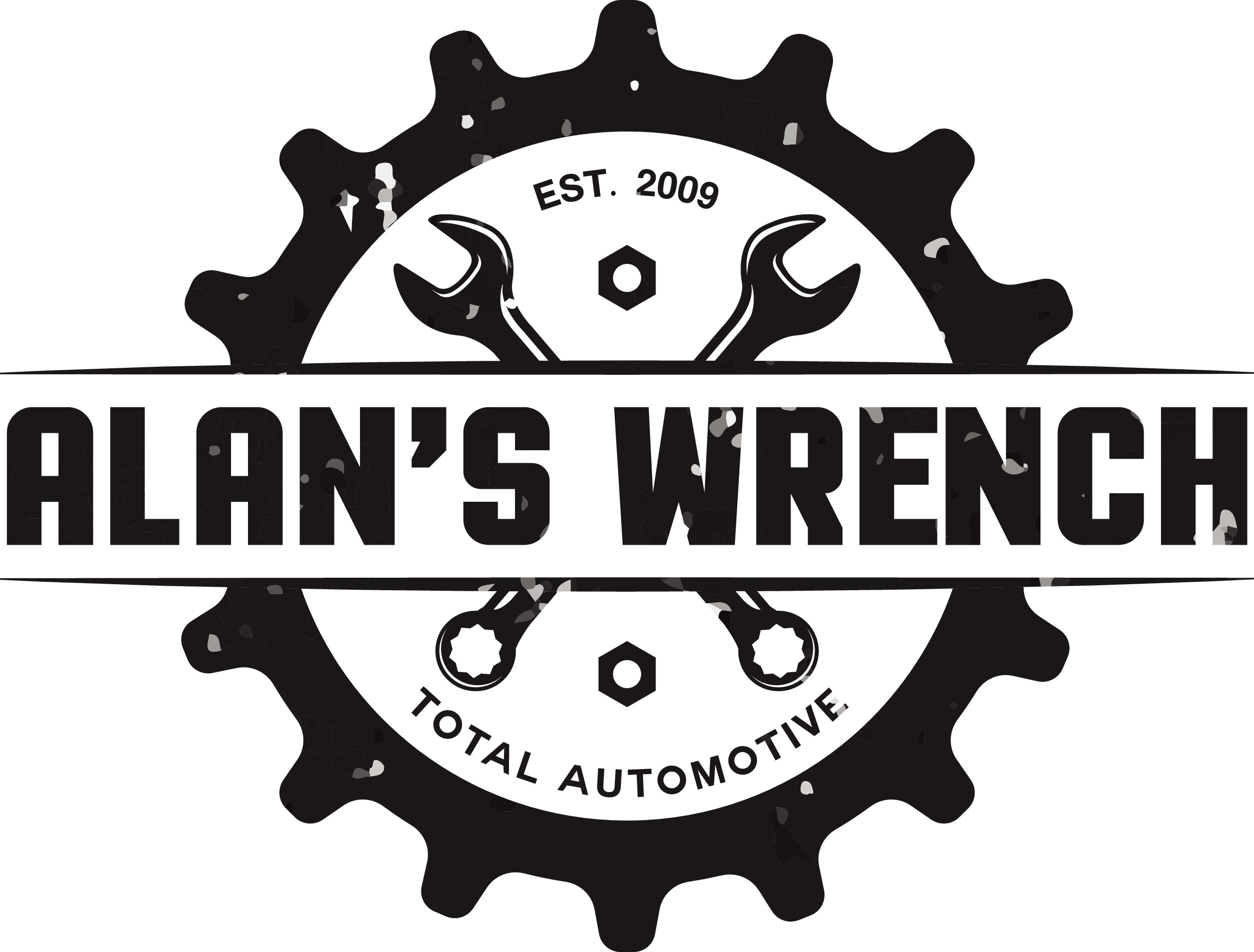 Alan's Wrench family owned Automotive repair facility needs logo with a vintage feel.