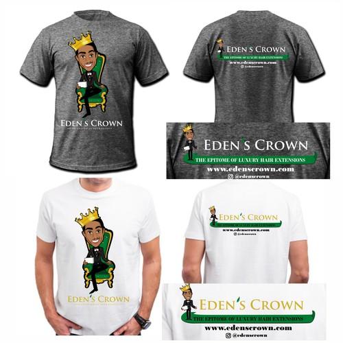 tshirt design for Eden's Crown